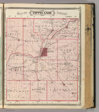 Map of Tippecanoe County. / Andreas, A. T. (Alfred Theodore), 1839-1900; Baskin, Forster and Company / 1876