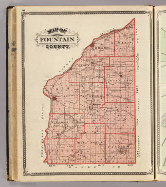 Map of Fountain County. / Andreas, A. T. (Alfred Theodore), 1839-1900; Baskin, Forster and Company / 1876