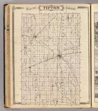 Map of Tipton County. / Andreas, A. T. (Alfred Theodore), 1839-1900; Baskin, Forster and Company / 1876