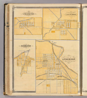 City of Anderson (with) Frankton, Elwood, Pendleton, Madison Co. / Andreas, A. T. (Alfred Theodore), 1839-1900; Baskin, Forster and Company / 1876
