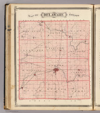 Map of Delaware County. / Andreas, A. T. (Alfred Theodore), 1839-1900; Baskin, Forster and Company / 1876