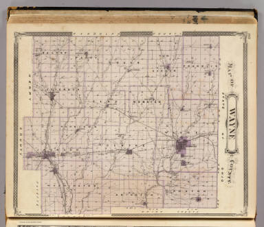 Map of Wayne County. / Andreas, A. T. (Alfred Theodore), 1839-1900; Baskin, Forster and Company / 1876