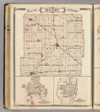 Knightstown Indiana Map.Map Of Henry County With New Castle Knightstown Andreas A T
