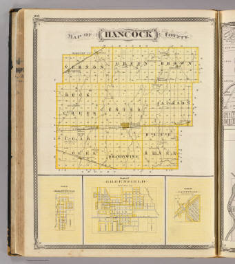 Map of Hancock County (with) Charlottesville, Greenfield, Fortville. / Andreas, A. T. (Alfred Theodore), 1839-1900; Baskin, Forster and Company / 1876