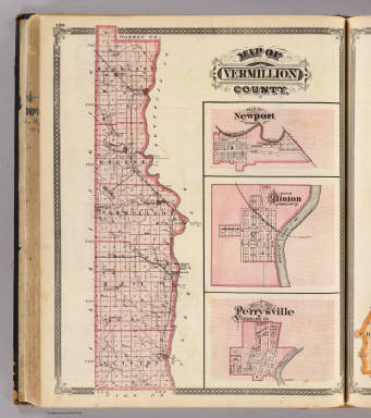 Map of Vermillion County (with) Newport, Clinton, Perrysville. / Andreas, A. T. (Alfred Theodore), 1839-1900; Baskin, Forster and Company / 1876