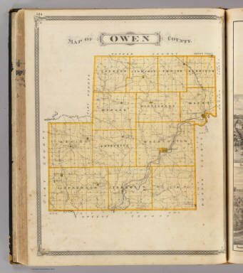 Map of Owen County. / Andreas, A. T. (Alfred Theodore), 1839-1900; Baskin, Forster and Company / 1876
