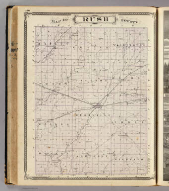 Map of Rush County. / Andreas, A. T. (Alfred Theodore), 1839-1900; Baskin, Forster and Company / 1876