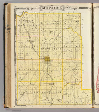 Map of Monroe County. / Andreas, A. T. (Alfred Theodore), 1839-1900; Baskin, Forster and Company / 1876
