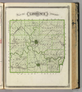 Map of Lawrence County. / Andreas, A. T. (Alfred Theodore), 1839-1900; Baskin, Forster and Company / 1876