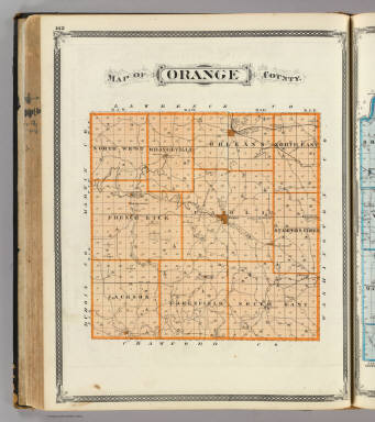Map of Orange County. / Andreas, A. T. (Alfred Theodore), 1839-1900; Baskin, Forster and Company / 1876