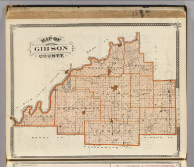Map of Gibson County. / Andreas, A. T. (Alfred Theodore), 1839-1900; Baskin, Forster and Company / 1876