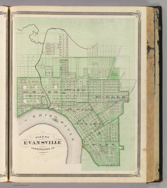 Plan of Evansville, Vanderburgh Co. / Andreas, A. T. (Alfred Theodore), 1839-1900; Baskin, Forster and Company / 1876