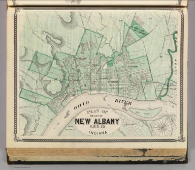 Albany Indiana Map.Plan Of The City Of New Albany Floyd Co Indiana Andreas A T