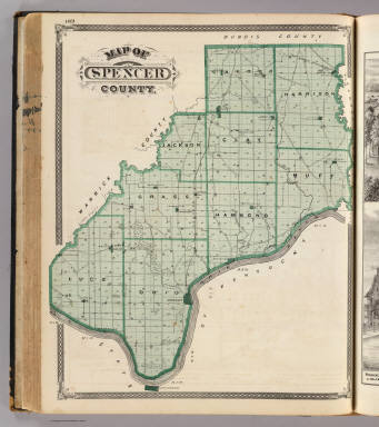 Map of Spencer County. / Andreas, A. T. (Alfred Theodore), 1839-1900; Baskin, Forster and Company / 1876