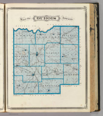 Indiana Map County.Map Of Dubois County Andreas A T Alfred Theodore 1839 1900