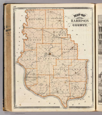 Map of Harrison County. / Andreas, A. T. (Alfred Theodore), 1839-1900; Baskin, Forster and Company / 1876