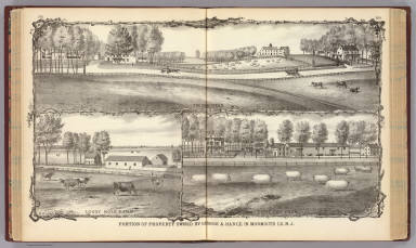 Portion of property owned by George A. Hance in Monmouth Co., N.J. / Rose, Theodore F.; Woolman, H. C. / 1878