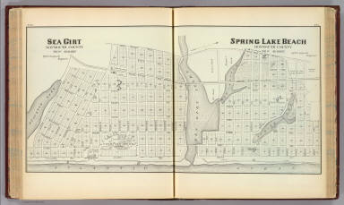 Sea Girt and Spring Lake Beach, Monmouth County, New Jersey. / Anspach, F. J. / 1878