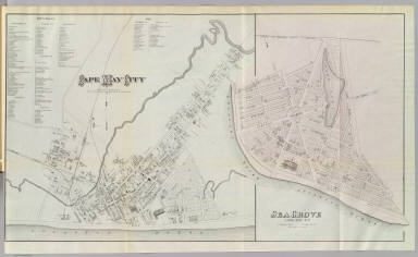 Cape May City. Surv. by R.B. Swain, Cape May City & H.C. Woolman, 1877. (with) Sea Grove, Cape May, N.Y. (sic). (Philadelphia, Woolman & Rose, 1878)