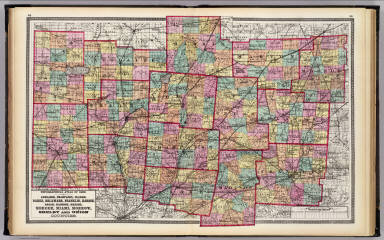 Auglaize, Champaign, Clarke, Darke, Delaware, Franklin, Hardin, Logan, Madison, Marion, Mercer, Miami, Morrow, Shelby and Union counties. / Walling, H. F.; Gray, Ormando Willis; Lloyd, H. H. / 1872