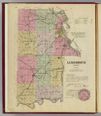 Leavenworth County, Kansas. / L.H. Everts & Co. / 1887