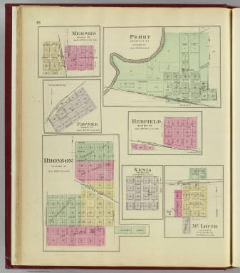 Perry, Memphis, Pawnee, Bronson, Redfield, Xenia, McLouth. / L.H. Everts & Co. / 1887
