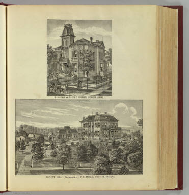 Residences of G.H.T. Johnson and F.D. Mills, Atchison, Kansas. / L.H. Everts & Co. / 1887