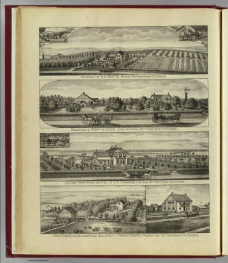 Residences, farms and hotel, Blaine, English Ridge, LaClede & Butler City. / L.H. Everts & Co. / 1887