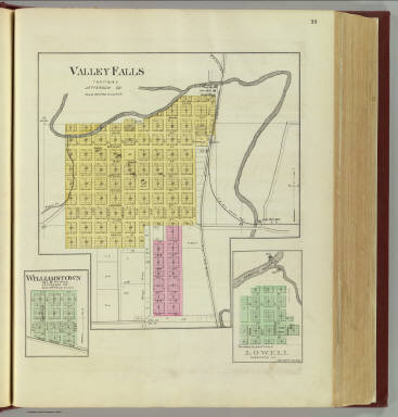 Valley Falls, Williamstown and Lowell. / L.H. Everts & Co. / 1887