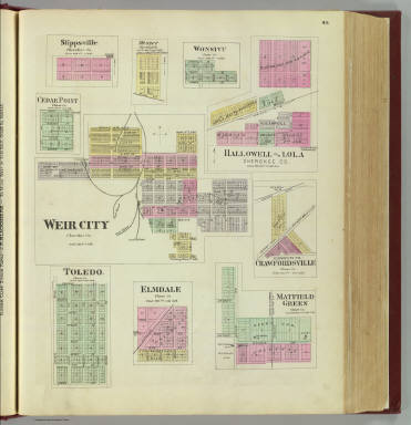 Weir City, Stippsville, Messer, Wonsivu, Hallowell, Lola, Cedar Point, etc. / L.H. Everts & Co. / 1887