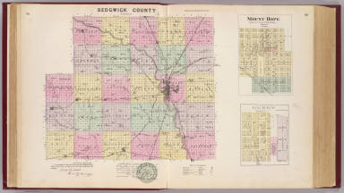 Sedgwick County, Mount Hope and Derby, Kansas. / Allen, C. R.; L.H. Everts & Co. / 1887