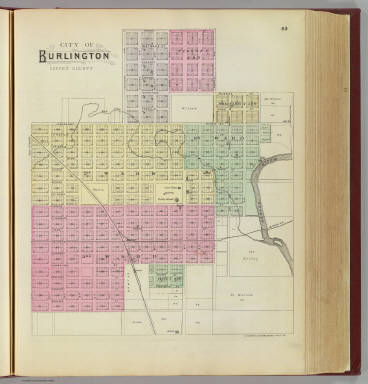 City of Burlington, Coffee County. / L.H. Everts & Co. / 1887