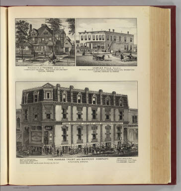 Bank, residence and stores, Atchison, Topeka and Eudora, Kansas. / L.H. Everts & Co. / 1887
