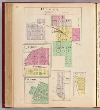 Reece, Fall River, Hamilton, Neal, Climax. / L.H. Everts & Co. / 1887