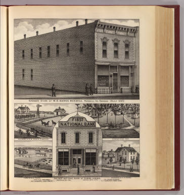 Banks Hardware, Russell; Bank, residences & farms, Downs, Kansas. / L.H. Everts & Co. / 1887