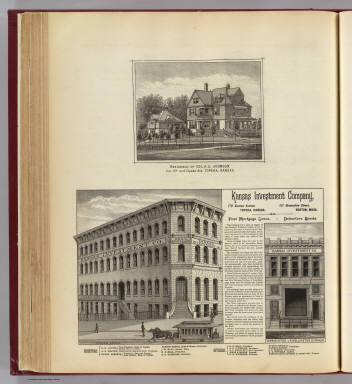 Kansas Investment Co. offices, residence, Topeka & Larned, Kansas. / L.H. Everts & Co. / 1887