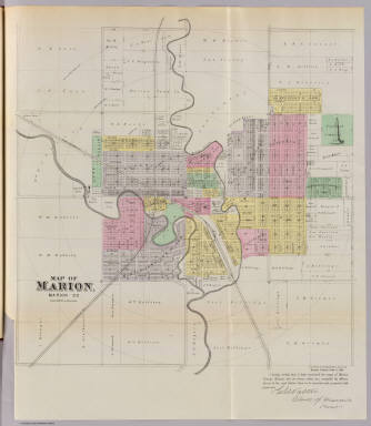 Map of Marion, Marion Co. / L.H. Everts & Co. / 1887