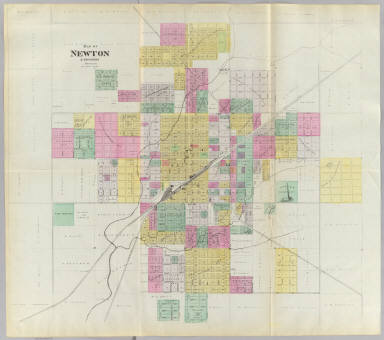 Map of Newton & environs, Harvey Co. / L.H. Everts & Co. / 1887