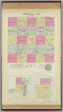 Jewell Co., Mankato & Burr Oak, Kansas. / L.H. Everts & Co. / 1887