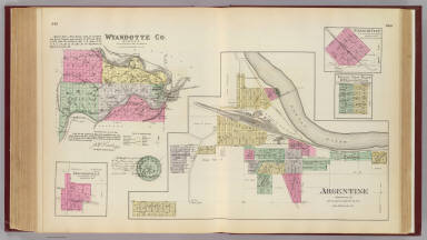 Argentine, Wyandotte Co., Edwardsville, Connor City, Grand View Pl., Windsor Pl. / L.H. Everts & Co. / 1887