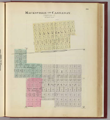 Macksville and Cassaday, Stafford Co. / L.H. Everts & Co. / 1887