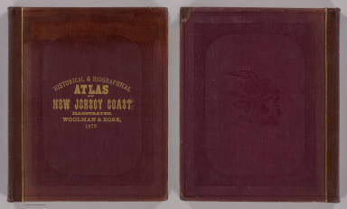 Cover: New Jersey coast, historical, biographical atlas. / Rose, Theodore F.; Woolman, H. C.; Price, T. T. / 1878