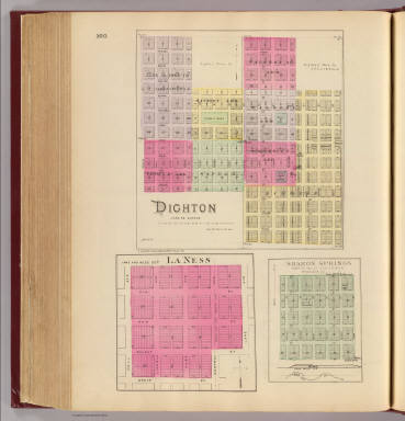 Dighton, La Ness, Sharon Springs. / L.H. Everts & Co. / 1887
