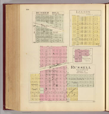 Russell, Bunker Hill, Leeson, Reeder. / L.H. Everts & Co. / 1887