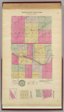 Hodgeman & Ford counties, Bellefont, Wilburn, Wright, Kansas. / L.H. Everts & Co. / 1887