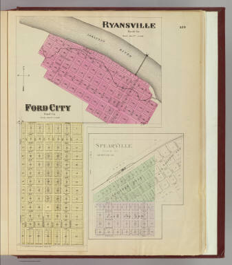 Ryansville, Ford City, Spearville. / L.H. Everts & Co. / 1887