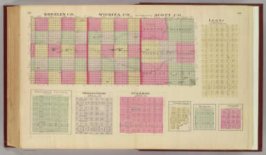 Greeley, Wichita, Scott counties, Leoti, Hodgeman & Greeley Cntrs. ... / L.H. Everts & Co. / 1887