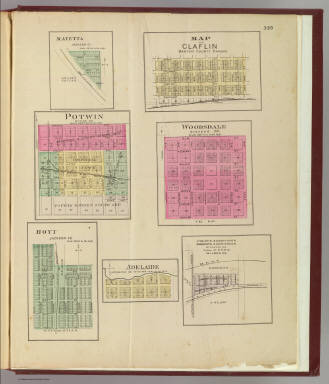 Mayetta, Claflin, Potwin, Woodsdale, Hoyt, Adelaide,  Colaw's Subdivision ... / L.H. Everts & Co. / 1887