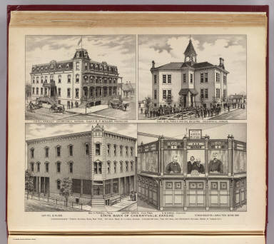 Cherryvale bank, hotel, school. / L.H. Everts & Co. / 1887