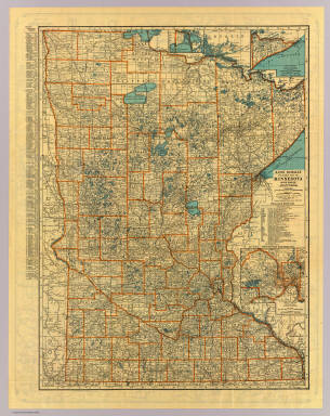 Minnesota road map. / Rand McNally and Company / 1932